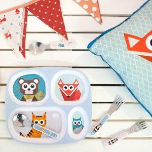 vajilla-plato-cubiertos-niños-maow-design-shop