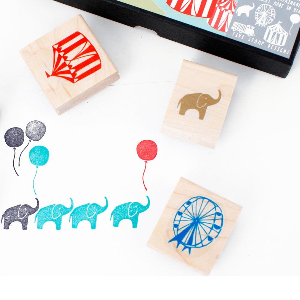 sellos-circo-maow-design-shop