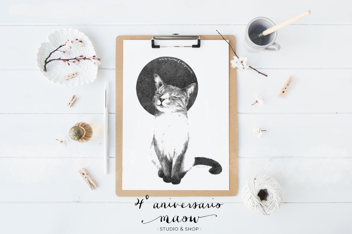 lamina-A4-gato-maow-by-clara-encinas-4-aniversario-maow-design-shop-2