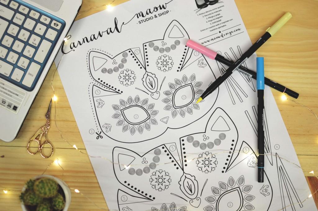 mascara-gato-diy-carnaval-mandala-maow-design-shop